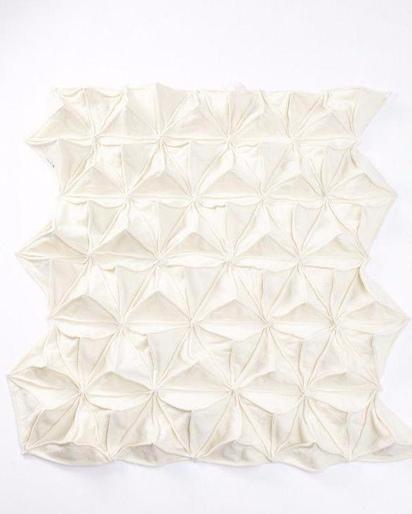 Handmade Wool & Cashmere Bloom Origami Blanket Cream