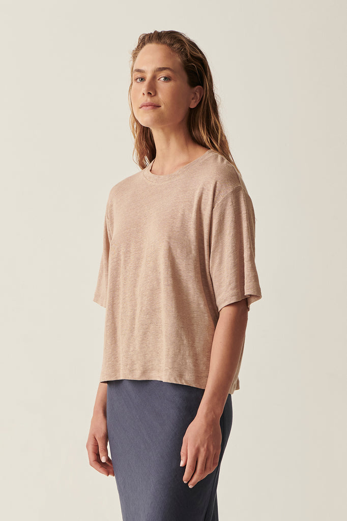 Camel Martine Crop Tee