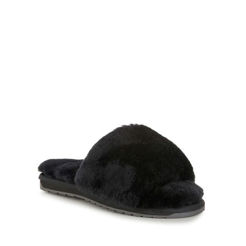 Sheep Skin Front Band Slide Black