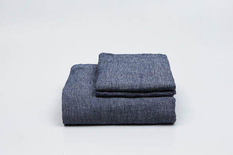 Denim French Linen Duvet Set