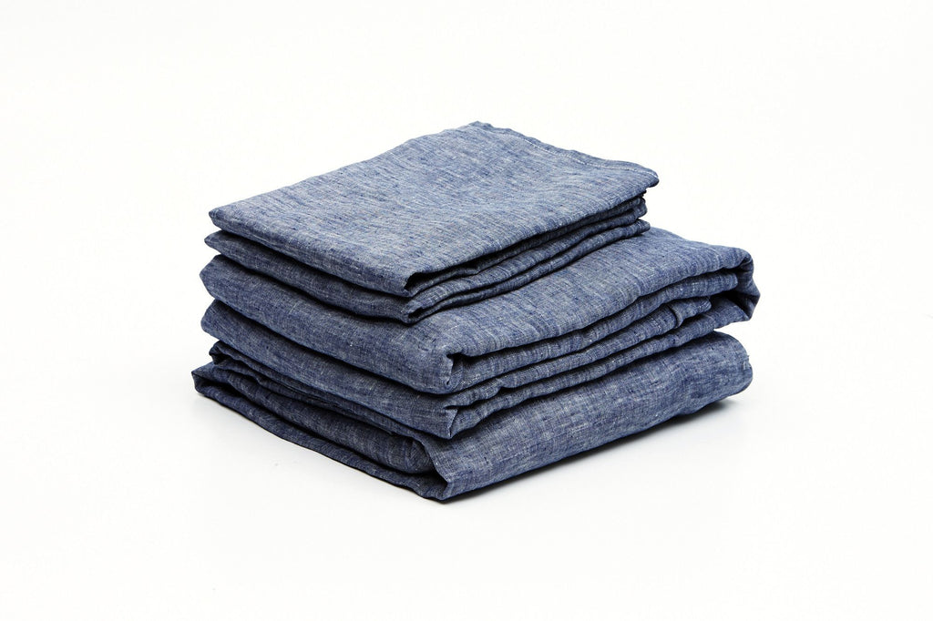 Denim French Linen Sheet Set