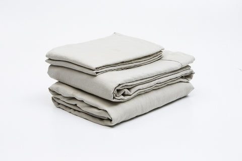 Stone French Linen Sheet Set - FINAL FEW SETS