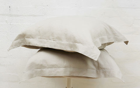 Stone French Linen European Pillowcase Set