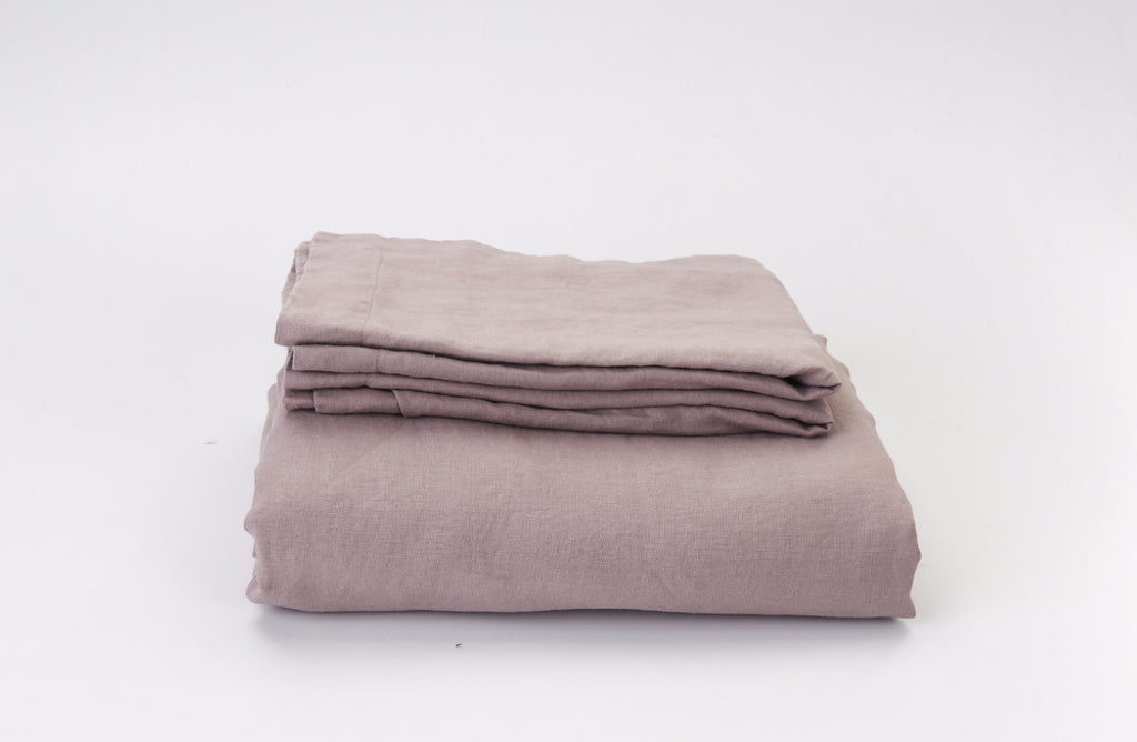 Pink Salt French Linen Duvet Set