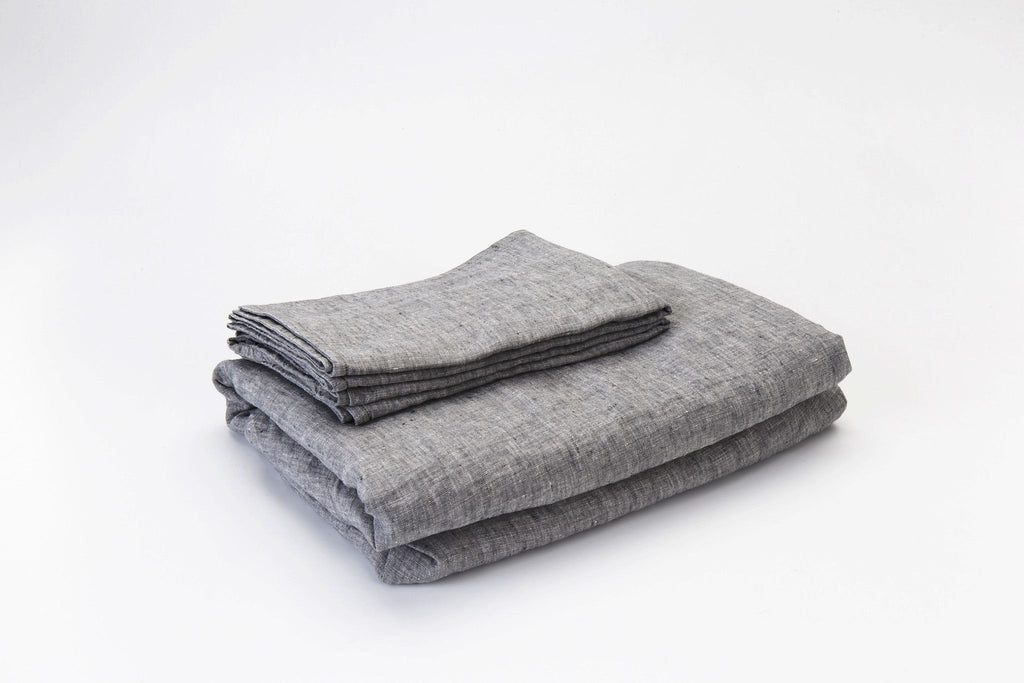 Fog French Linen Sheet Set - NEW COLOUR