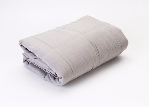 Linen Quilted Blanket - Cloud