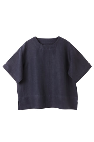 Navy  Raven Crew Neck Top