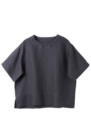 Charcaol  Raven Crew Neck Top