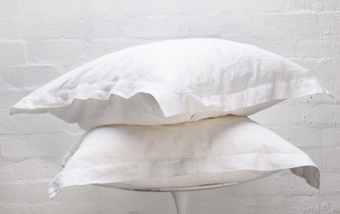 Snow French Linen European Pillowcase Set