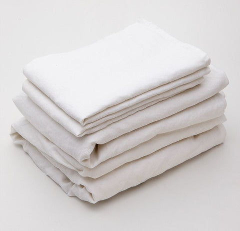 Snow French Linen Sheet Set