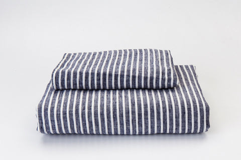 Blue Marine French Linen Duvet Set - NEW COLOUR