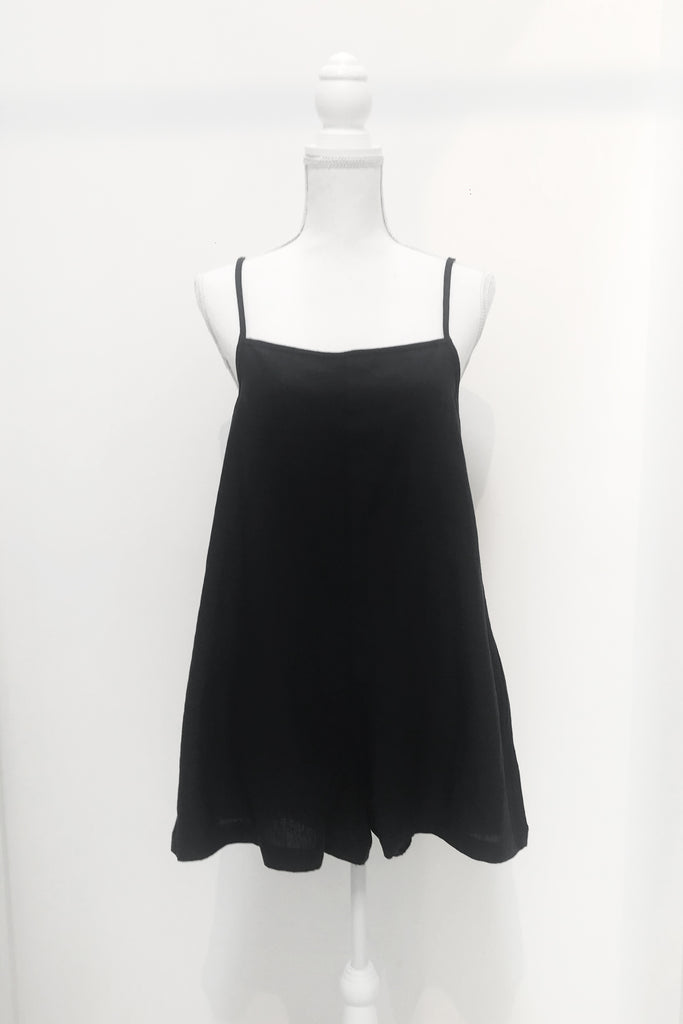 Black Evie Singlet Short Jumpsuit