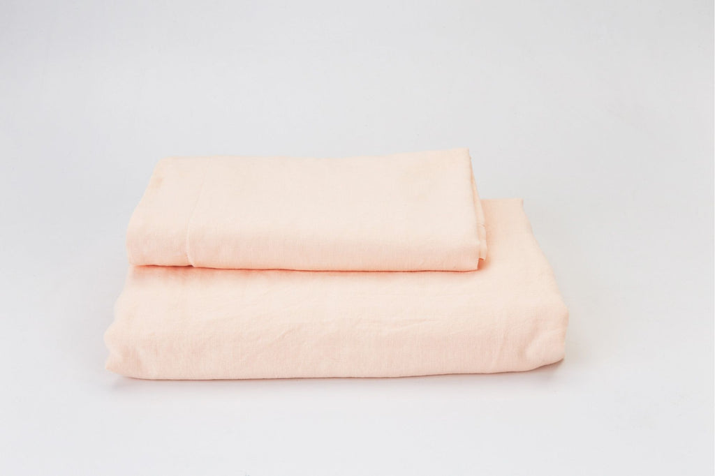 Blush French Linen Duvet Set