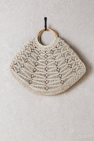 Large Jute Macrame Bag