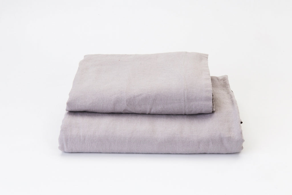 Mist French Linen Duvet Set