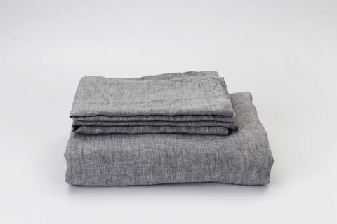 Fog French Linen Duvet Set - NEW COLOUR
