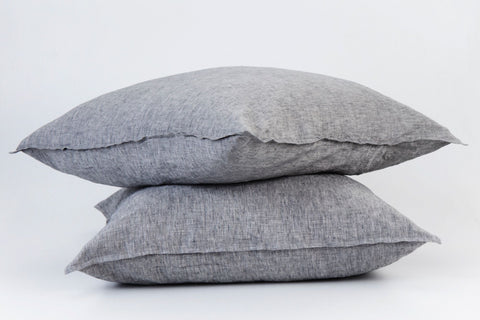 Fog French Linen European Pillowcase Set - NEW COLOUR