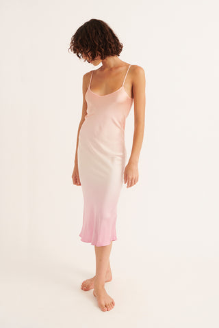 Ombre Silk Slip Dress