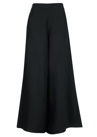 Black Raven Wide Leg Pants