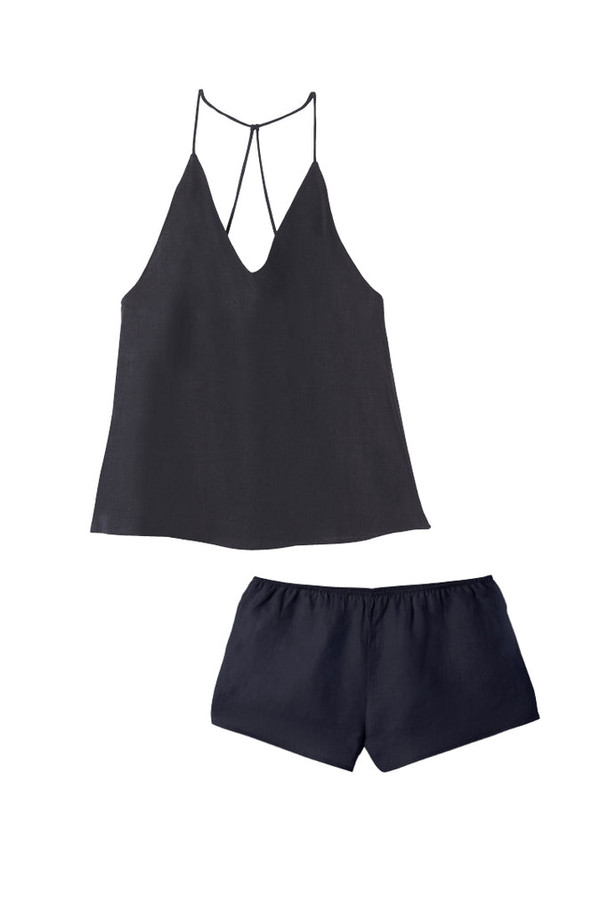 Navy Raven Singlet & Shorts Set
