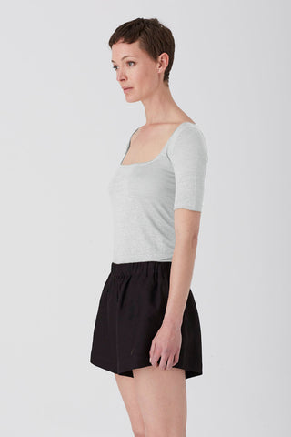 Fern Wren Square Neck 3/4 Sleeve Tee