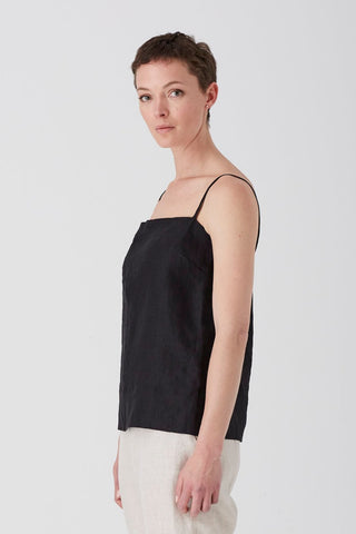 Black Iris Square Neck Camisole