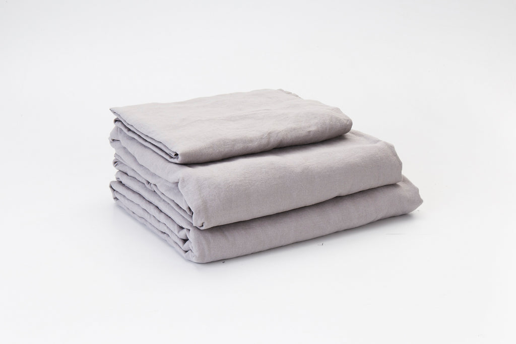 Mist French Linen Sheet Set - LAST FEW SETS