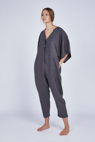 Charcoal Raven Lounge Jumpsuit