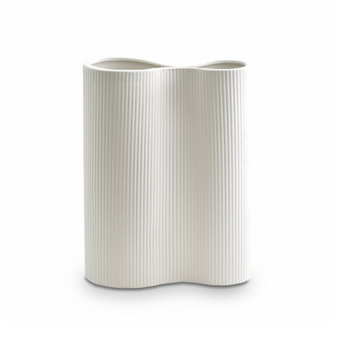 Ribbed Infinity Vase Medium (4 Colours Available)