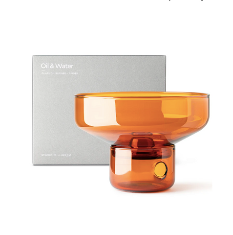 Glass Oil Burner - Amber