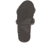 Sheep Skin Stripe Slides Charcoal