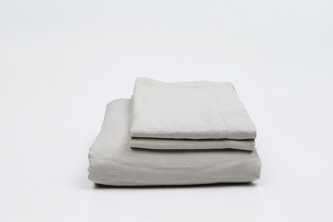 Stone French Linen Duvet Set - FINAL FEW SETS