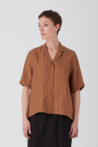Tobacco Iris Short Sleeve Shirt