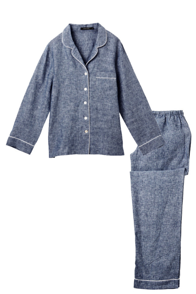 Denim Valentine Shirt w/ Long Pants Set