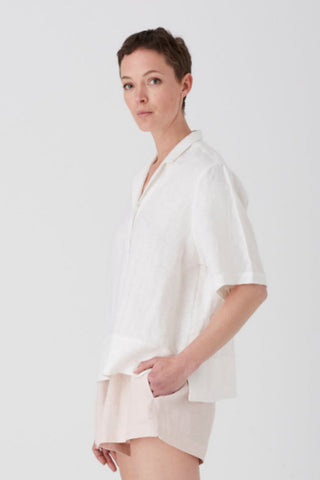 Ivory Iris Short Sleeve Shirt