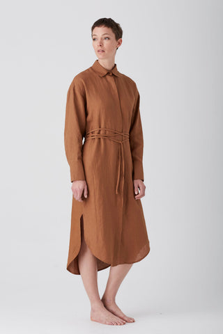 Tobacco Ebony Shirt Dress