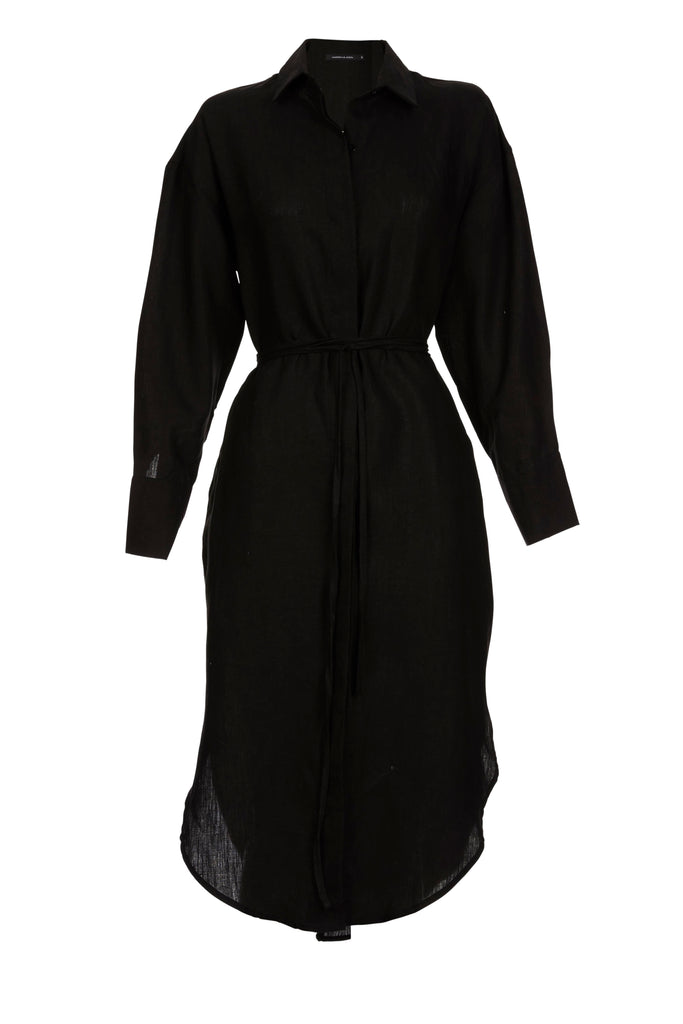 Black Ebony Shirt Dress