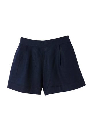 Navy Raven Tailored Shorts