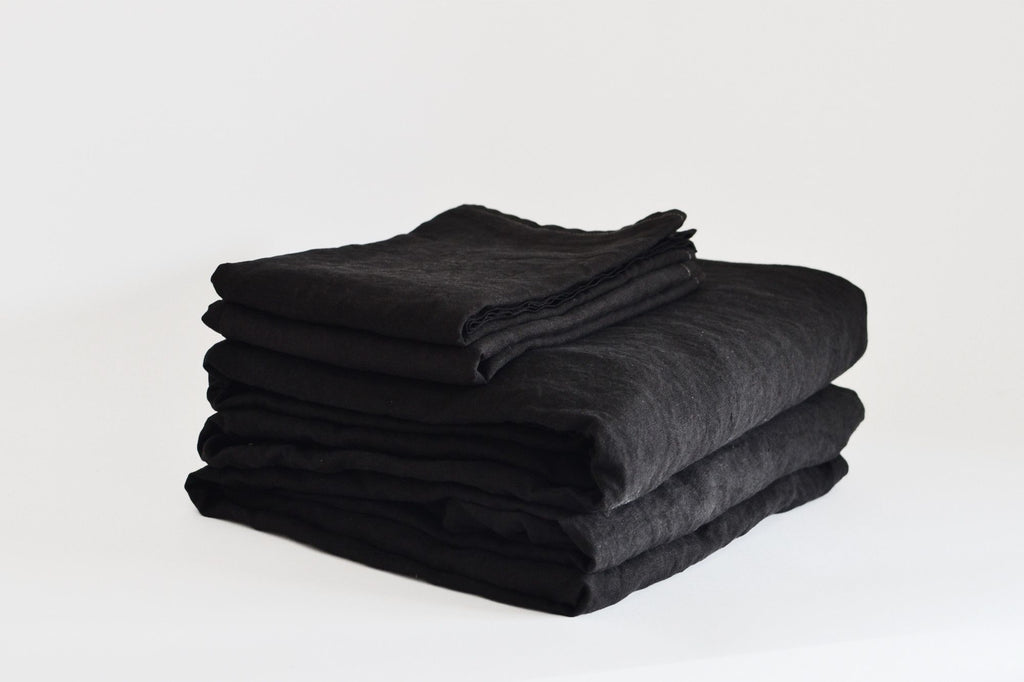 Coal French Linen Sheet Set - LAST ONE