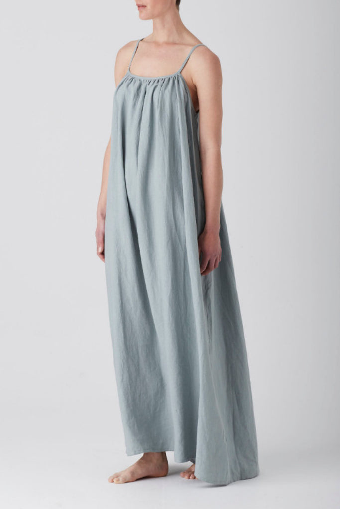 Sage Iris Gathered Maxi Dress
