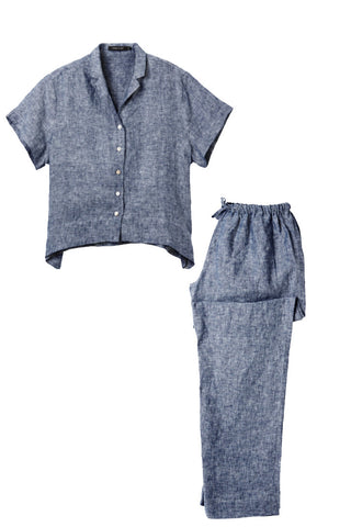 Denim Evie shirt w/ Long Pants Set