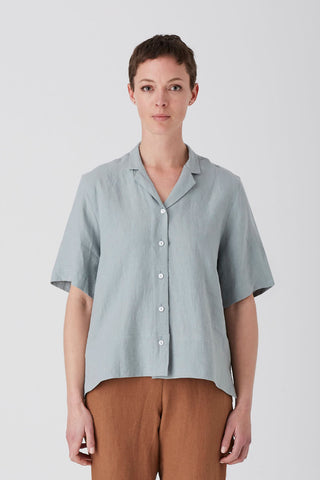 Sage Iris Short Sleeve Shirt
