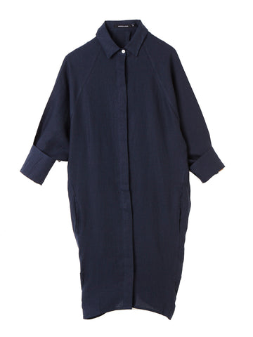 Navy Evie Shirt Dress