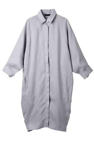 Silver Evie Shirt Dress