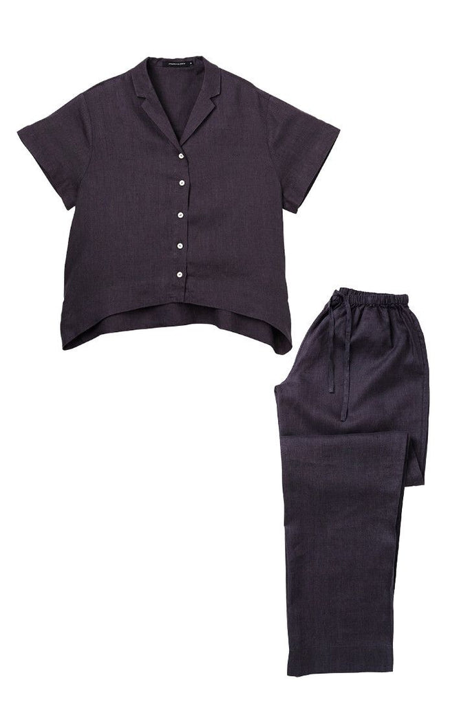 Charcoal Evie shirt w/ Long Pants Set