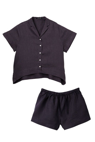 Charcoal Evie Shirt w/ Shorts Set
