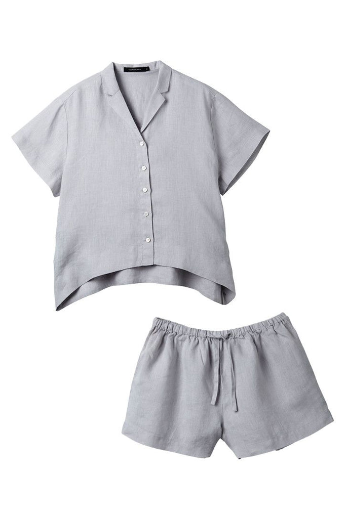 Silver Evie Shirt w/ Shorts Set