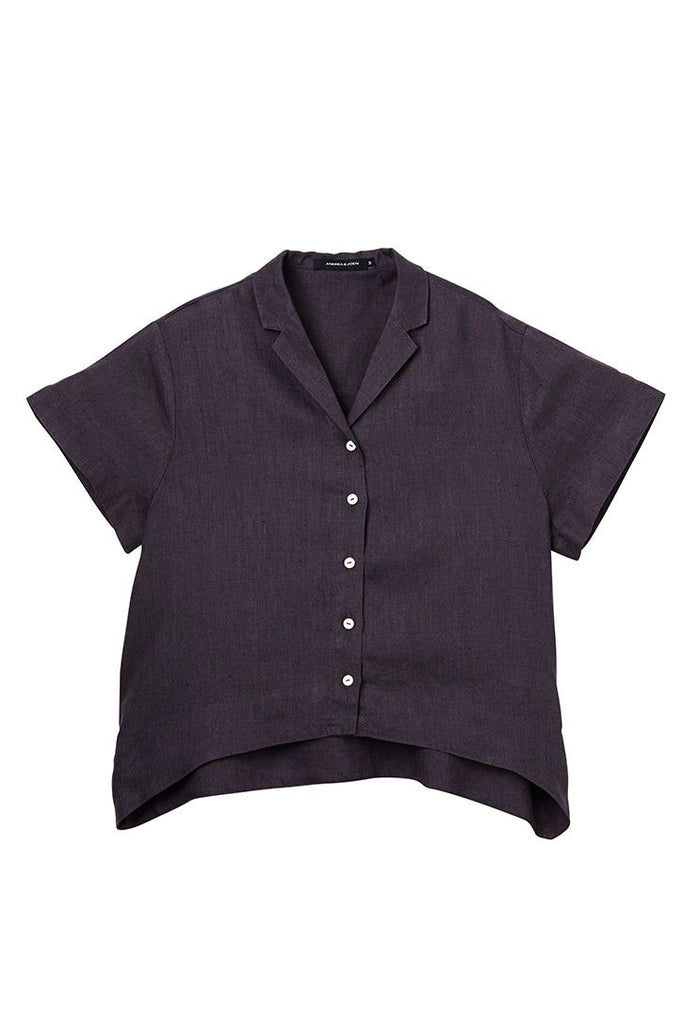 Charcoal Evie Short Sleeve Shirt