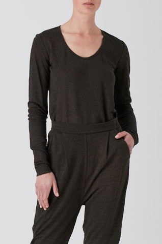 Oil Harlow Long Sleeve Scoop Neck