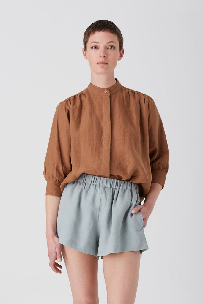 Tobacco Iris Blouse